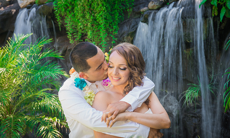 ADRIANA & WILLIAM HAWAII WATERFALL & BEACH WEDDING